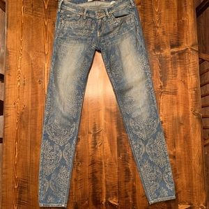 Hollister Jeans with Gold Design